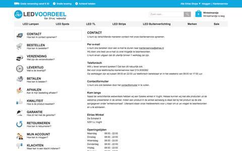 Screenshot of Privacy Page Contact Page ledvoordeel.nl - Veelgestelde Vragen | Ledvoordeel.nl - captured Nov. 5, 2016