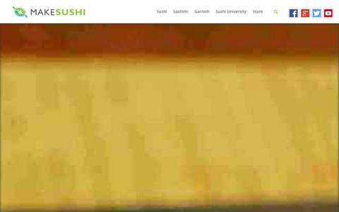 Screenshot of Home Page makesushi.com - Learn how to make sushi | Make Sushi - captured Jan. 26, 2016