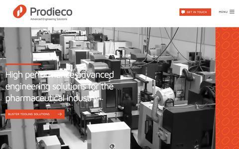 Screenshot of Home Page prodieco.com - Home - Prodieco - captured Sept. 25, 2018