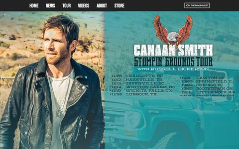 Screenshot of Home Page canaansmith.com - Canaan Smith - Mercury Records Nashville Canaan Smith - captured Sept. 30, 2015
