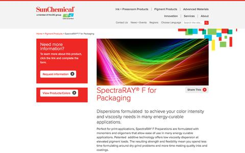 SpectraRAY® F for Packaging