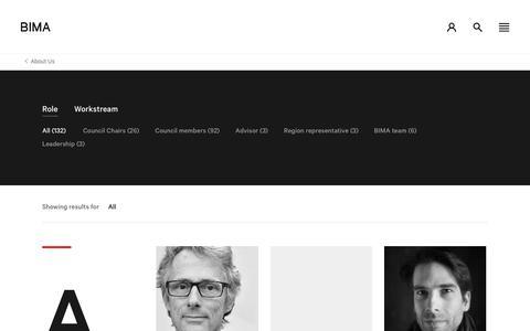 Screenshot of Team Page bima.co.uk - People - captured Oct. 4, 2018