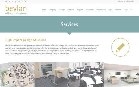 Screenshot of Services Page bevlan.com - Office Designer | Office Interior Design & Planning - captured Dec. 18, 2018