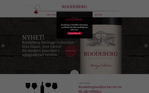 Screenshot of Home Page roodeberg.se - Roodeberg - captured March 26, 2016