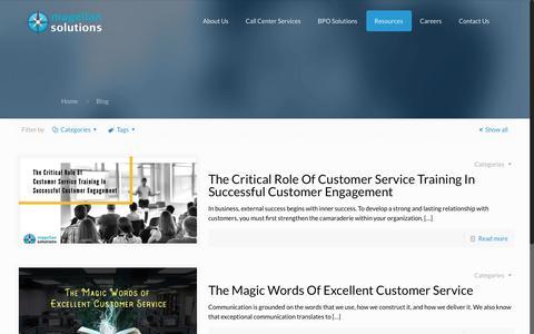 Screenshot of Blog magellan-solutions.com - Call Center and BPO Blog | Magellan Solutions Philippines - captured July 10, 2018
