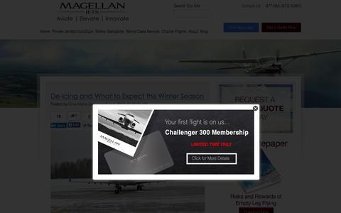 Screenshot of Blog magellanjets.com - Private Jet Blog | Magellan Jets - captured Nov. 11, 2015