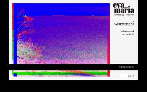 Screenshot of Home Page eva-maria.dk - …::: photo retouch by eva-maria :::… - captured Oct. 2, 2014