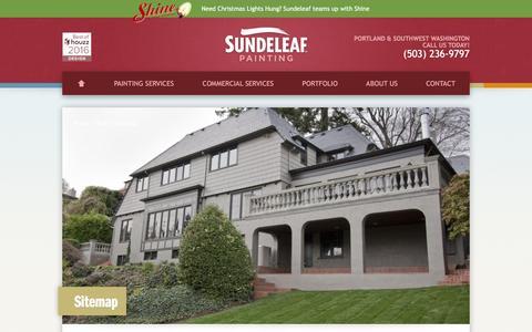 Screenshot of Site Map Page sundeleafpainting.com - Sitemap | Sundeleaf Painting - captured Dec. 2, 2016