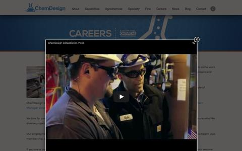 Screenshot of Jobs Page chemdesign.com - Chemical Engineering Careers | Careers in Chemistry | Chemistry Careers | Chemical Careers | Chemical Engineering Internships | ChemDesign - captured Dec. 8, 2015