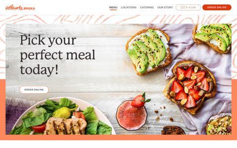 Screenshot of Menu Page atlantabread.com - Main Menu - Atlanta Bread        Atlanta Bread - captured June 6, 2019