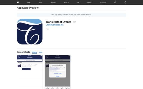 TransPerfect Events on the App Store
