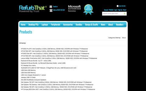 Screenshot of Site Map Page refurbthat.com - Site Map | RefurbThat - captured Oct. 10, 2014