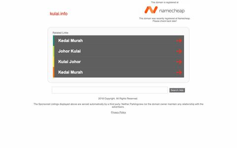 Screenshot of Home Page kulai.info - kulai.info - captured Oct. 16, 2018
