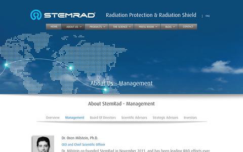 Screenshot of Team Page stemrad.com - Management | StemRad - captured Oct. 20, 2018
