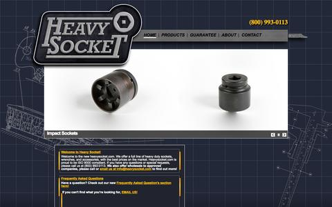 Screenshot of heavysocket.com - Heavysocket.com | The premier provider of hex, bi-hex, castellated, and impact sockets! - captured Sept. 20, 2015