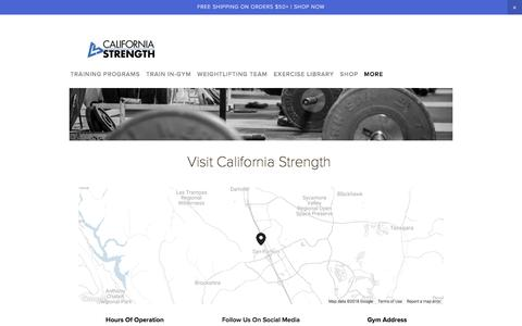 Screenshot of Privacy Page californiastrength.com - Contact Us — California Strength - captured July 15, 2018