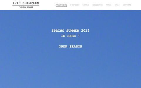 Screenshot of Home Page irishowroom.com - Multilabel agency for international brands - captured Oct. 3, 2014