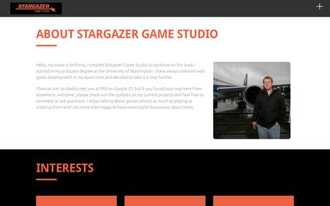 Screenshot of Home Page stargazergamestudio.com - Stargazer Game Studio - captured Dec. 17, 2016