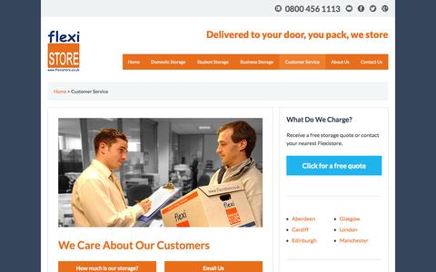 Screenshot of Support Page flexistore.co.uk - Customer Service | Help is at Hand | Flexistore - captured Oct. 6, 2014