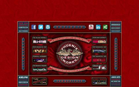 Screenshot of Home Page phoenixdesignworks.com - Phoenix Design Works - captured Sept. 29, 2014