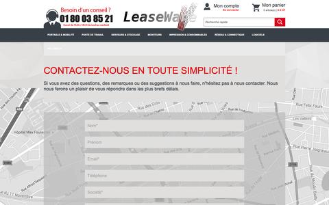 Screenshot of Contact Page leaseware.fr - Commerce - captured May 12, 2017
