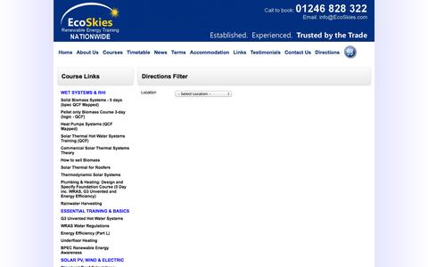 Screenshot of Maps & Directions Page ecoskies.com - EcoSkies - Locations - captured Oct. 1, 2014