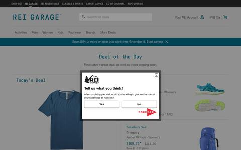 Deal of the Day at REI Garage (formerly REI Outlet)