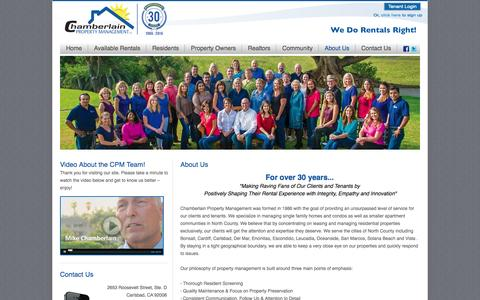 About Us | Chamberlain Property Management