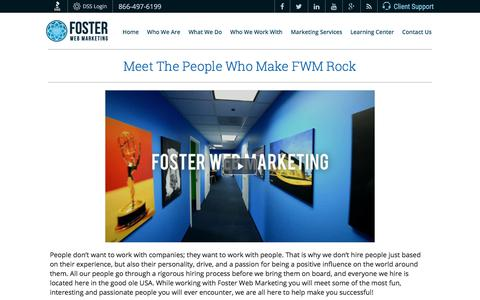 Our Marketing Team Members | Foster Web Marketing