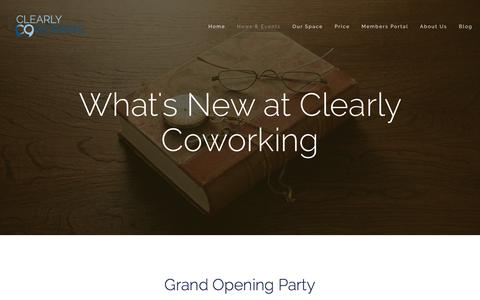 Screenshot of Press Page clearlycoworking.com - News - Clearly Coworking - captured Jan. 28, 2016