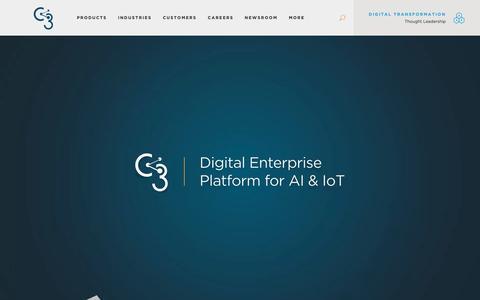 Screenshot of Home Page c3.ai - AI & IoT Software Platform for Digital Transformation | C3 - captured Oct. 29, 2018