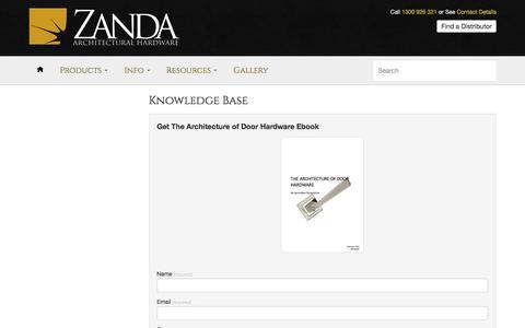 Knowledge Base – Architects & Designers – Zanda Architectural Hardware