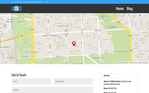 Screenshot of Contact Page geospatialconnect.com - Contact Us - GeoSpatial Connect - captured Sept. 19, 2014