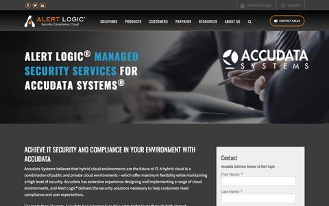 Managed Security Services for Accudata | Alert Logic
