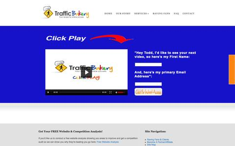 Screenshot of Home Page trafficbakery.com - SEO, PPC and Internet Marketing For Small Business | Traffic Bakery - captured Jan. 26, 2015