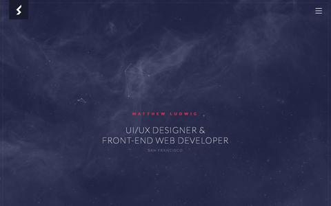 Screenshot of Home Page webdesign3000.com - Matthew Ludwig - UI/UX Designer & Front-end Web Developer - San Francisco, California USA - captured June 18, 2017