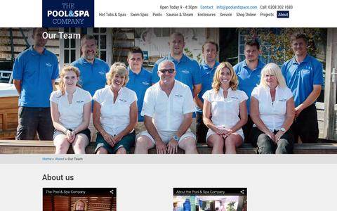Screenshot of Team Page poolandspaco.com - The Team | The Pool and Spa Company - captured Oct. 2, 2014