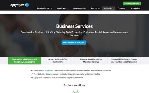 Business Services Maximize Revenue Potential with Optymyze