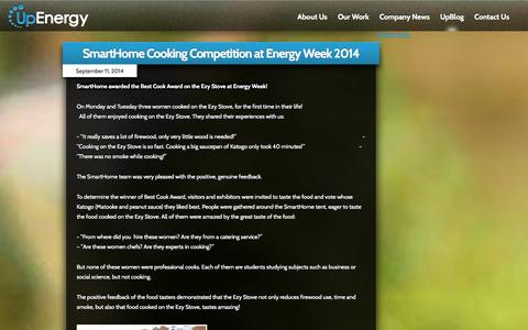 Screenshot of Blog upenergygroup.com - UpEnergy - Clean Energy Technology in the Developing World - captured Sept. 17, 2014