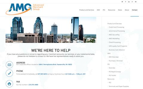 Screenshot of Support Page advancedmerchantgroup.com - Support | Advanced Merchant Group - captured Feb. 5, 2016
