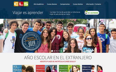 Screenshot of Home Page cls-idiomas.com - Cursos de inglés en el extranjero para jovenes - cursos de inglés en verano - Cursos ingles en el extranjero - captured Jan. 23, 2016