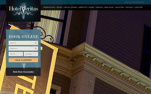 Screenshot of Contact Page thehotelveritas.com - Contact Us | Hotel Veritas | Hotels in Harvard Square - captured Feb. 1, 2016