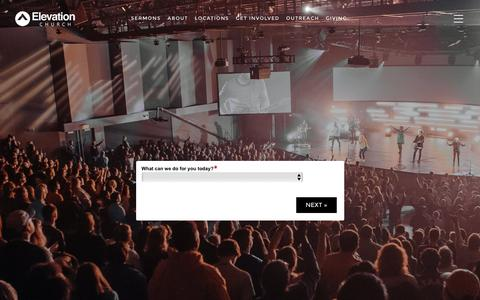 Screenshot of Contact Page elevationchurch.org - Contact - Elevation Church - captured July 12, 2016