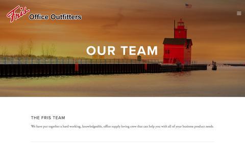 Screenshot of Team Page frisoffice.com - Our Team — Fris - captured Oct. 14, 2017