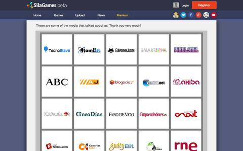 Screenshot of Press Page silagames.com - Media - Sila Games - captured Oct. 26, 2014