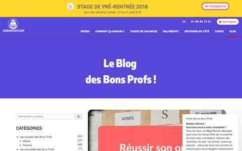 Screenshot of Blog lesbonsprofs.com - Chloé dit… - captured July 18, 2018