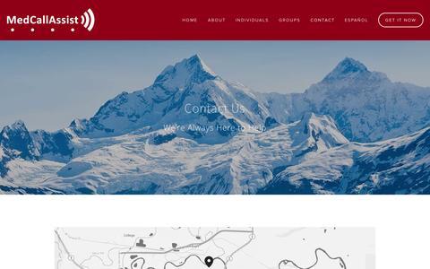Screenshot of Contact Page medcallassist.com - Contact Us — MedCallAssist - captured Sept. 25, 2014