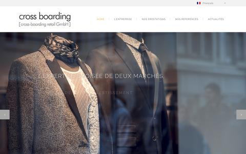 Screenshot of Home Page cross-boarding.com - Cross Boarding | Cross boarding : Conseiller immobilier et retail France Allemagne - captured July 17, 2015