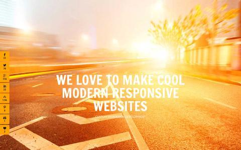 Screenshot of Home Page phirebase.com - Custom Webdesign Development - Phirebase.com - captured Sept. 30, 2015