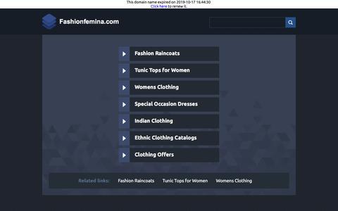Screenshot of Home Page fashionfemina.com - Fashionfemina.com - captured Oct. 21, 2019
